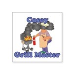 Grill Master Casey Square Sticker 3