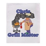 Grill Master Chris Throw Blanket