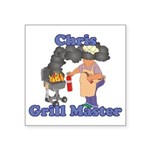 Grill Master Chris Square Sticker 3