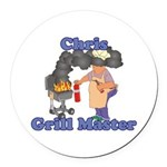 Grill Master Chris Round Car Magnet