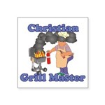 Grill Master Christian Square Sticker 3