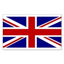 Union Jack Flag Rectangle Sticker