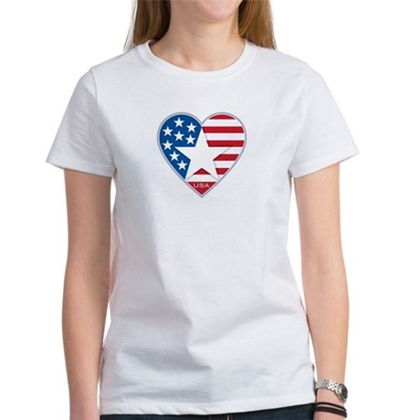Heart Star USA: Women's T-Shirt