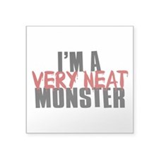 "Monster Square Sticker 3"" x 3"""