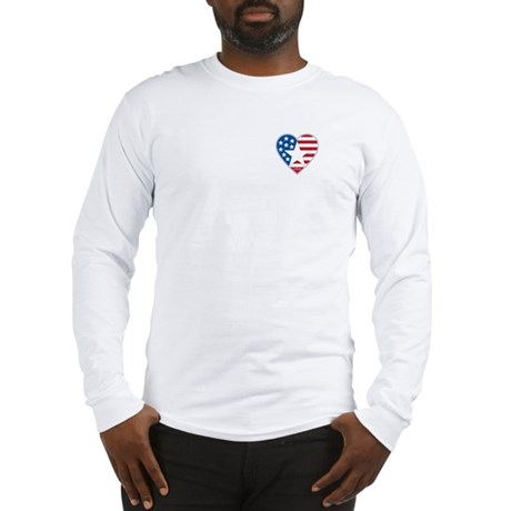 Heart Star USA: Long Sleeve T-Shirt
