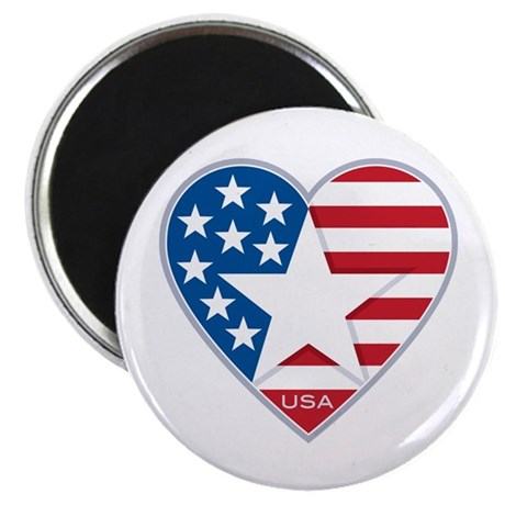 Heart Star USA: Magnet