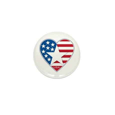Heart Star USA: Mini Button