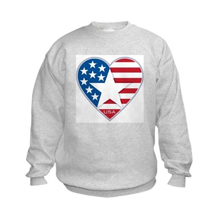 Heart Star USA: Kids Sweatshirt