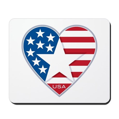 Heart Star USA: Mousepad