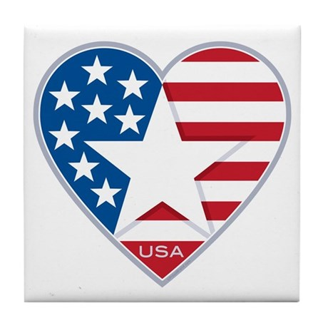 Heart Star USA: Tile Coaster