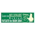 Leave No Millionaire Behind Sticker