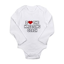 Cute Wrestling coach Long Sleeve Infant Bodysuit