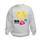 4th Birthday Party Girl Sweatshirt