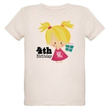 4th Birthday Party Girl T-Shirt
