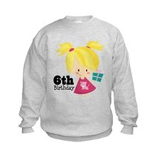 6th Birthday Party Girl Sweatshirt