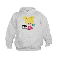 7th Birthday Party Girl Hoodie