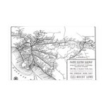 Pacific Electric Map 35x21 Wall Decal