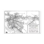 Pacific Electric Map 20x12 Wall Decal
