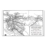 Pacific Electric Map Sticker (Rectangle 50 pk)