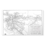 Pacific Electric Map Decal
