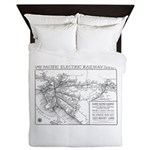 Pacific Electric Map Queen Duvet