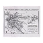 Pacific Electric Map Throw Blanket