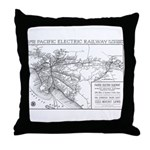 Pacific Electric Map Throw Pillow