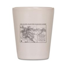 Pacific Electric Map Shot Glass