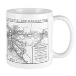Pacific Electric Map Mug