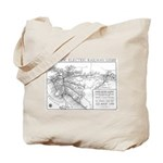 Pacific Electric Map Tote Bag
