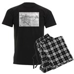 Pacific Electric Map Men's Dark Pajamas