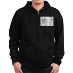 Pacific Electric Map Zip Hoodie (dark)