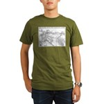 Pacific Electric Map Organic Men's T-Shirt (dark)