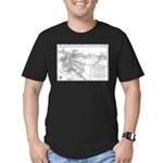 Pacific Electric Map Men's Fitted T-Shirt (dark)