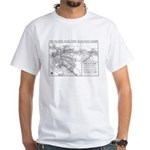 Pacific Electric Map White T-Shirt