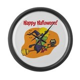 Halooween Witch Large Wall Clock