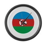 Azerbaijan Roundel Large Wall Clock