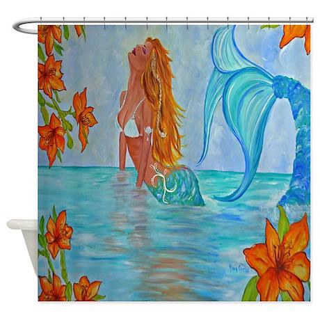 Bathroom d 233 cor gt the wisdom seeker mermaid by alecia shower curtain