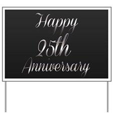 Banner 25th Anniversary Yard Sign