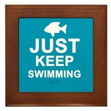 Keep Swimming Framed Tile
