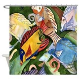 Tropical Fish School Shower Curtain