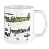 RCAF Spitfire Cutaway Mug