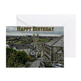 Town View Birthday Greeting Card