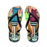 Happy Hour - Women Wine Flip Flops