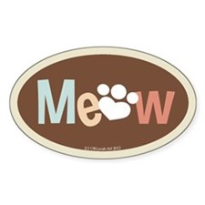 Meow Bumper Decal