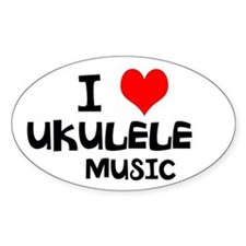 I Love Ukulele Music Decal