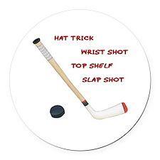 Hockey Round Car Magnet