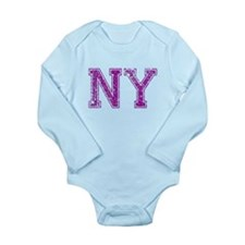 NY, Vintage Long Sleeve Infant Bodysuit