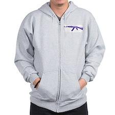 Purple AK47 Zip Hoodie