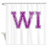 WI, Vintage Shower Curtain